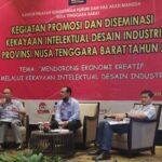 Dinas Perindustrian Provinsi NTB Dorong Ekonomi Kreatif Melalui Kekayaan Intelektual Desain Industri