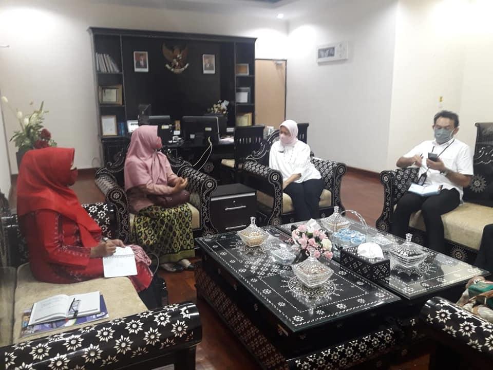 Kunjungan Kadisperin Ke Kantor Perwakilan BPKP NTB