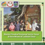 Menteri Parekraf Kunjungi Sentra Tenun dan Desa Wisata di Lombok Timur