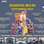 Rangkaian aktivitas Bidang Kerjasama, Pengawasan, Promosi Dan Investasi Periode Bulan September 2021